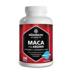 Maca hochdosiert + L-Arginin + Vitamine + Zink 240 Kaps.