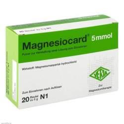 Magnesiocard® 5mmol 20 Btl. Pulv.
