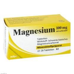 Magnesium 100 mg JENAPHARM® 20 Tbl.