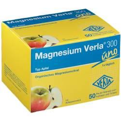 Magnesium Verla® 300 uno Apfel Granulat 50 Btl.
