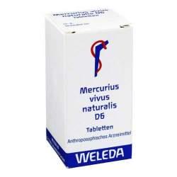 Mercurius vivus naturalis D6 Weleda 80 Tbl.