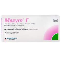 Mezym® F 10 000 Ph.-Eur.-Einheiten Lipase, 20 Magensaftresistente Tabletten