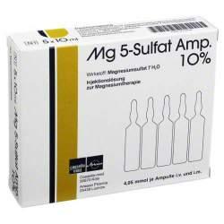 Mg 5-Sulfat 10% 5 Amp. zu 10ml