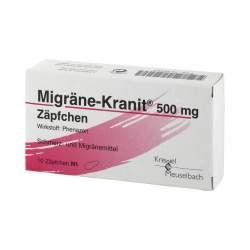 Migräne-Kranit® 500mg 10 Zäpfchen