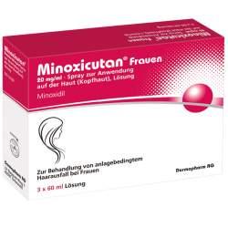 Minoxicutan® Frauen 20 mg/ml Spray zur Anwendung auf der Haut 3x60ml