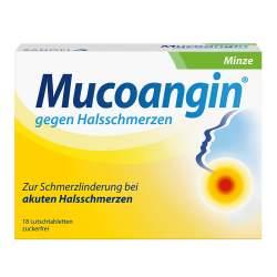 Mucoangin® gegen Halsschmerzen Minze, 20 mg/Lutschtablette, 18 Lutschtabletten