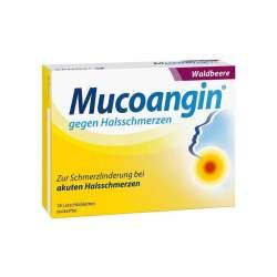 Mucoangin® gegen Halsschmerzen Waldbeere 20 mg/Lutschtablett, 18 Lutschtabletten