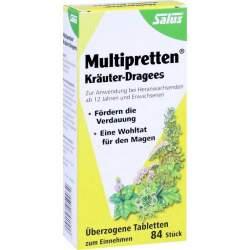 Multipretten Kräuter-Dragees Salus 84 St.