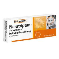 Naratriptan-ratiopharm® bei Migräne 2 Filmtbl.