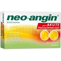 neo-angin® Benzydamin gegen akute Halsschmerzen, Zitrone 20 Lutschtbl.