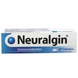 Neuralgin® Schmerztabletten 250 mg/200 mg/50 mg, 20 Tabletten
