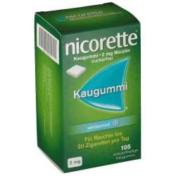 Nicorette whitemint 2mg 105 Kaugummi