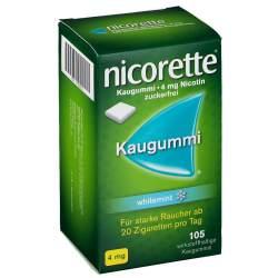 Nicorette whitemint 4mg 105 Kaugummi