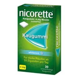 Nicorette whitemint 4mg 30 Kaugummi