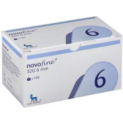 NovoFine® 0,23/0,25 x 6 mm 32G Tip 100 St.