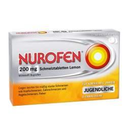 Nurofen® 200mg Schmelztbl. Lemon 12 St.