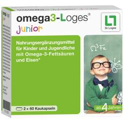 omega3-Loges® junior 120 Kaukapseln