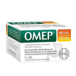 OMEP® HEXAL 20mg 7 magensaftresist. Hartkaps.