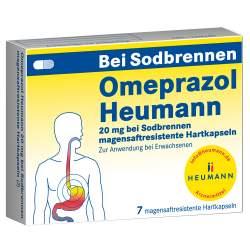 Omeprazol Heumann 20mg b. Sodbrennen 7 msr. Hartkaps.