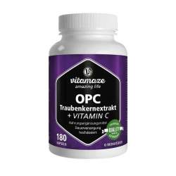 OPC Traubenkernextrakt hochdosiert + Vitamin C 180 Kaps.