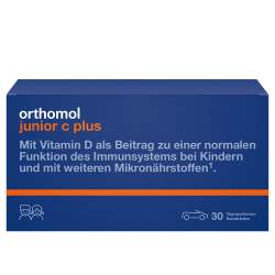 Orthomol junior C plus Mandarine/Orange 30 Kautbl.