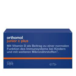 Orthomol junior C plus Waldfrucht u. Mandarine/Orange 14 Kautbl.