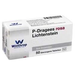 P-Dragees rosa Lichtenstein, 50 überzogene Tabletten