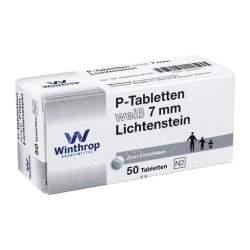 P-Tabletten weiß 7 mm Lichtenstein 50 Tbl.