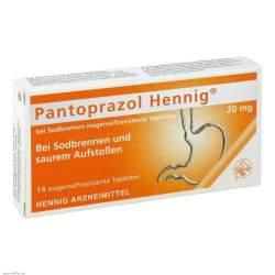 Pantoprazol Hennig® b.Sodbr. 20mg 14 msr. Tbl.