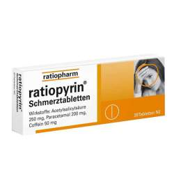 ratiopyrin® Schmerztabletten 20 Tbl.
