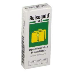 Reisegold® tabs gegen Reiseübelkeit 50 mg 10 Tbl.