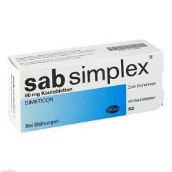 sab simplex® 80mg 50 Kautbl.