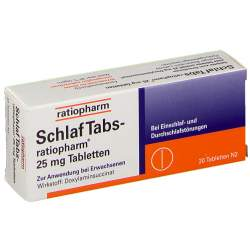 SchlafTabs-ratiopharm® 25mg 20 Tbl.