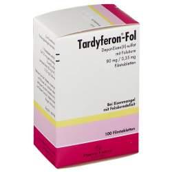 Tardyferon®-Fol Depot-Eisen(II)-sulfat mit Folsäure 80 mg/0,35 mg 100 Filmtabletten