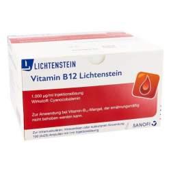 Vitamin B 12 Lichtenstein 1.000 µg/mg Injektionslösung 100 Amp. 1 ml