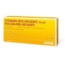 Vitamin B12-Hevert plus Folsäure 2x100 Amp.