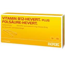 Vitamin B12-Hevert plus Folsäure 2x5 Amp.