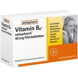 Vitamin B6-ratiopharm® 40mg 100 Filmtbl.