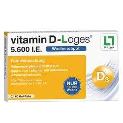 vitamin D-Loges® 5.600 I.E. 60 Gel-Tabs Familienpackung