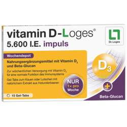 vitamin D-Loges® 5.600 I.E. impuls 15 Gel-Tabs