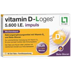 vitamin D-Loges® 5.600 I.E. impuls 30 Gel-Tabs