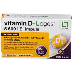 vitamin D-Loges® 5.600 I.E. impuls 60 Gel-Tabs