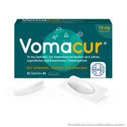 Vomacur® 70mg 10 Zäpfchen