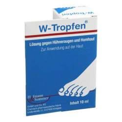W-Tropfen Lösung gegen Hühneraugen u. Hornhaut 10 ml