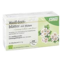 Weissdornblätter mit Blüten Arzneitee bio Salus 15 St.