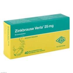 Zinkbrause Verla® 25mg 40 Brausetbl.