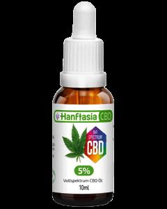 CBD Öl 5 Prozent von Hanftasia